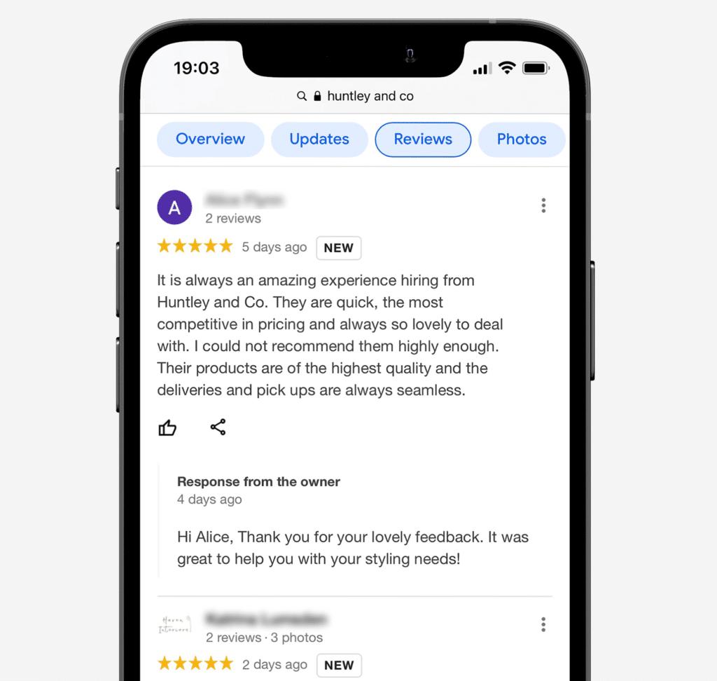 Respond to your Google Reviews